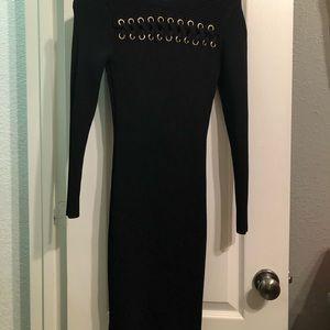 XS Black Michael Kors Body Con Dress
